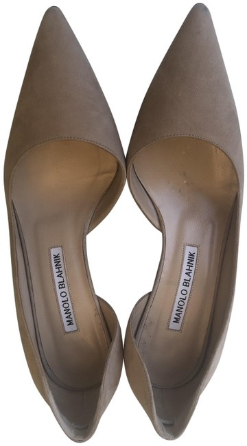 Item - Beige Suede Half-d'orsay Collina 50 Pumps Size EU 37 (Approx. US 7) Regular (M, B)