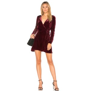 Privacy Please short dress burgundy on Tradesy