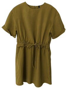 Zara short dress Yellowish-green Gathered Olive on Tradesy