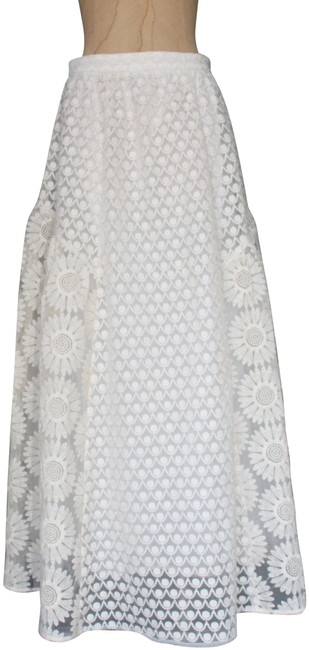 Item - Ivory Champagne & Straberry Lace Skirt Size 2 (XS, 26)