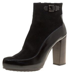 Tod's Suede Leather Ankle Rubber Black Boots