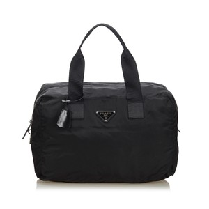 Prada 9fprtr001 Vintage Nylon Black Travel Bag