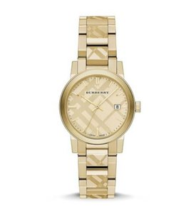 Burberry New Burberry The City Gold-Tone Ladies Watch BU9145 34mm