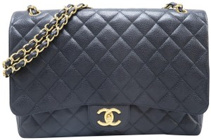 Chanel Maxi Caviar Double Shoulder Bag