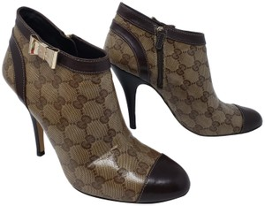 Gucci Gold Hardware Guccissima Gg Monogram Bow Brown Boots