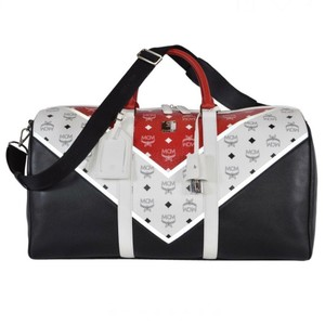 MCM Black, white & red Travel Bag