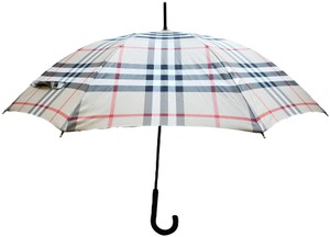 Burberry Beige black multicolor Nova Check print Burberry umbrella