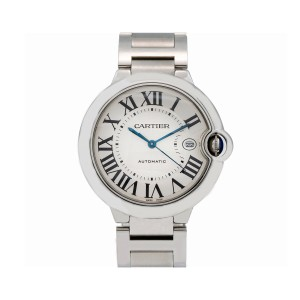 Cartier Cartier Ballon Bleu 42MM W69012Z4 White Dial With Stainless Steel