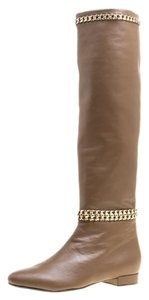 Le Silla Leather Chain Detail Rubber Brown Boots