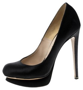 Nicholas Kirkwood Satin Leather Black Pumps