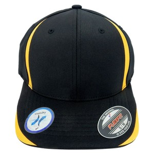 Flexfit 6 Panel Baseball Cap, Solid Colors with Accent Strips - Large/X-Large.