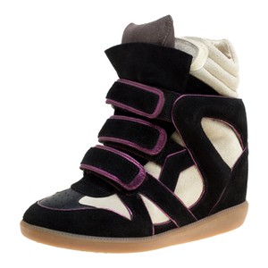 Isabel Marant Suede Leather Rubber Black Wedges