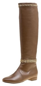 Le Silla Leather Chain Rubber Brown Boots