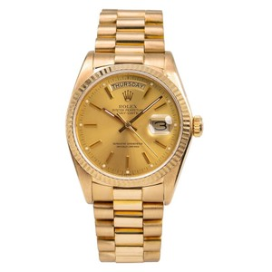 Rolex 18K Yellow Gold Rolex Day-Date 18038 36mm Champagne Dial
