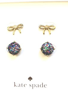 Kate Spade 00RU2694Kate spade square studs earrings,Kate spade clear sparkle bow stud Earrings