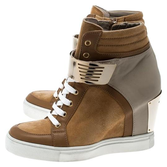 Preload https://img-static.tradesy.com/item/25585499/le-silla-brown-browngrey-leather-in-chipow-high-top-wedge-sneakers-flats-size-eu-37-approx-us-7-regu-0-2-540-540.jpg
