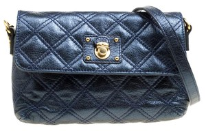 Marc Jacobs Leather Canvas Quilted Cross Body Bag