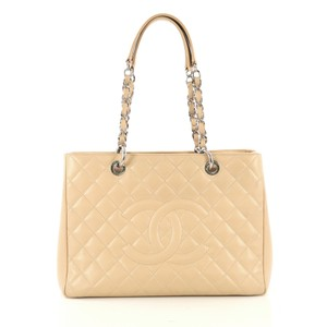 Chanel Shopping Caviar Tote in beige