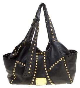 Jimmy Choo Leather Studded Tote in Black