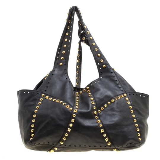 Jimmy Choo Leather Studded Tote in Black Image 1