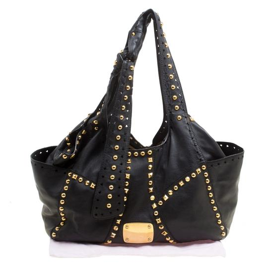 Jimmy Choo Leather Studded Tote in Black Image 10
