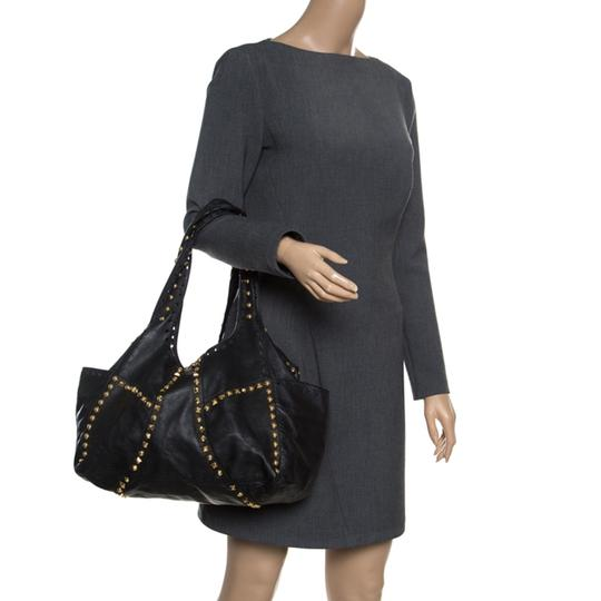 Jimmy Choo Leather Studded Tote in Black Image 2