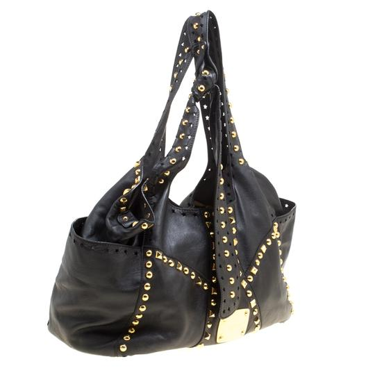 Jimmy Choo Leather Studded Tote in Black Image 3