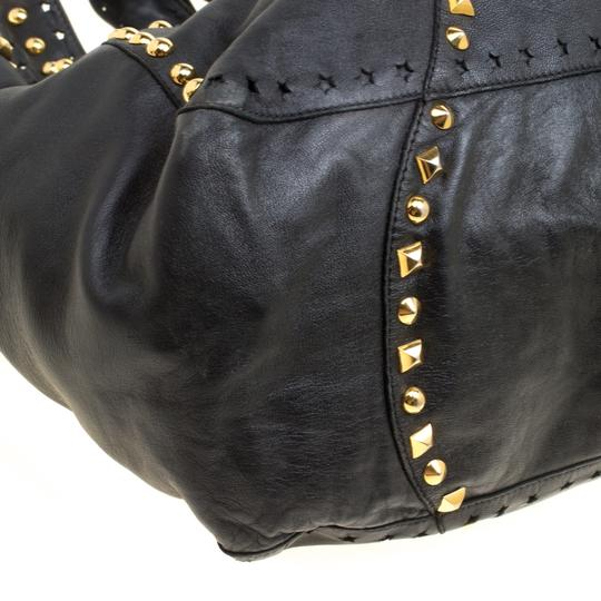 Jimmy Choo Leather Studded Tote in Black Image 4
