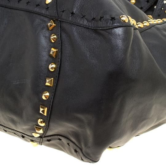 Jimmy Choo Leather Studded Tote in Black Image 5