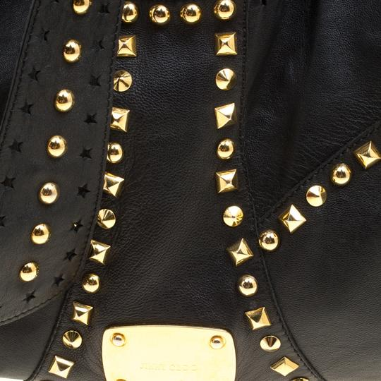 Jimmy Choo Leather Studded Tote in Black Image 6