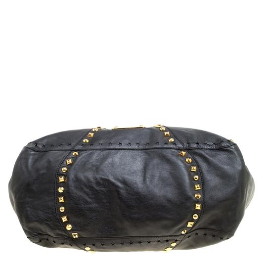 Jimmy Choo Leather Studded Tote in Black Image 8