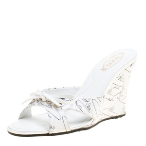 Tod's Leather White Sandals