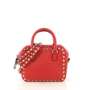 Valentino Rockstud Satchel in red
