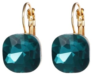 Kate Spade Emerald and Gold Drop Earrings