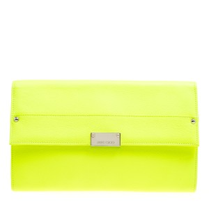 Jimmy Choo Leather Green Clutch