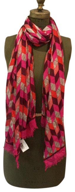 Item - Pink Grey and Purple Scarf/Wrap