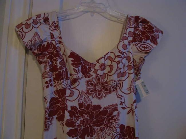 Teri Jon short dress White and Red floral print on Tradesy