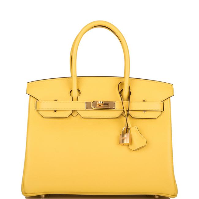 Item - Birkin Jaune De Naples Taurillon Novillo 30cm Gold Hardware Yellow Leather Satchel