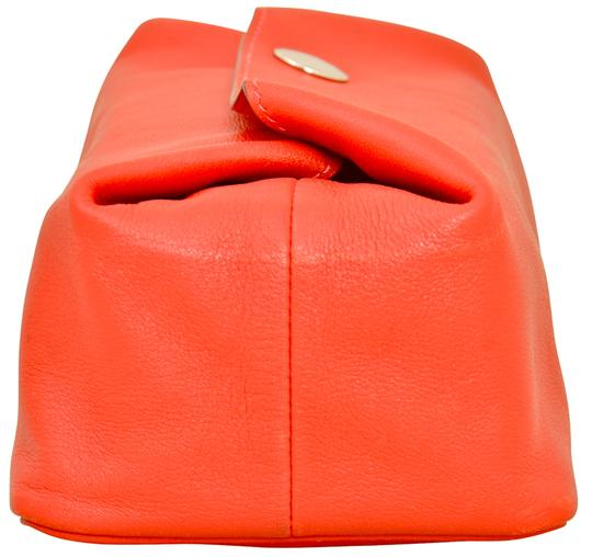 Hermès Hermes Red Swift Leather Be Bop Accessory Cosmetic Pouch Image 3