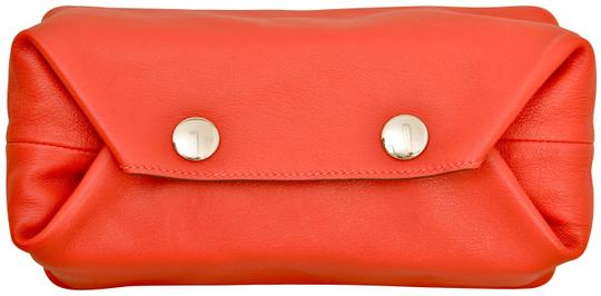 Hermès Hermes Red Swift Leather Be Bop Accessory Cosmetic Pouch Image 4