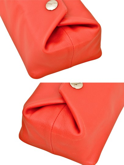 Hermès Hermes Red Swift Leather Be Bop Accessory Cosmetic Pouch Image 6