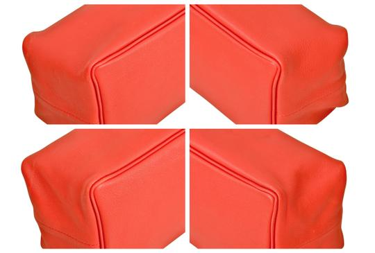 Hermès Hermes Red Swift Leather Be Bop Accessory Cosmetic Pouch Image 7