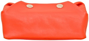 Hermès Hermes Red Swift Leather Be Bop Accessory Cosmetic Pouch