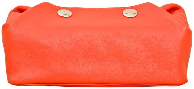 Item - Red Pouch Swift Leather Be Cosmetic Bag
