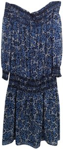MICHAEL Michael Kors short dress Blue Medium Off-the-shoulder Polyester on Tradesy