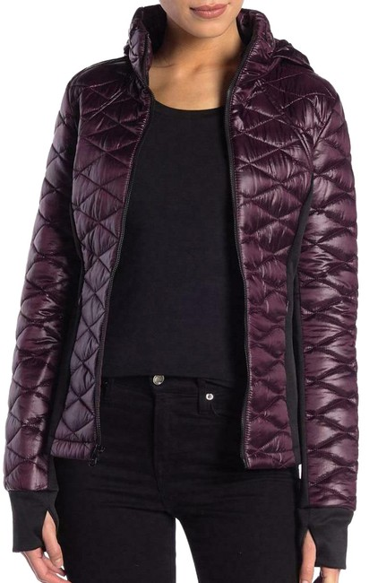 Item - Wine Quilted Puffer Jacket Coat Size 10 (M)
