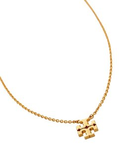Tory Burch Logo Charm Delicate Gold Necklace