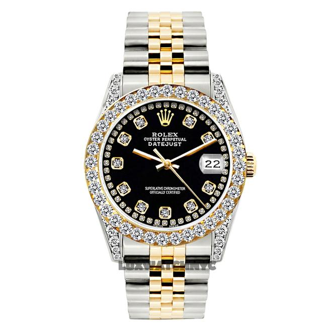 Rolex Black Dial 26mm Ladies Datejust Gold and Stainless Steel with Appraisal Watch Rolex Black Dial 26mm Ladies Datejust Gold and Stainless Steel with Appraisal Watch Image 1