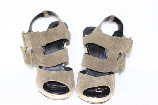 Pierre Hardy Suede Wedges Italian Green Sandals Image 1