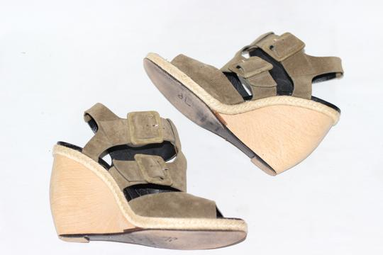 Pierre Hardy Suede Wedges Italian Green Sandals Image 4